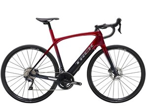 Trek Domane+ LT 50 Rage Red to Deep Dark Blue Fade