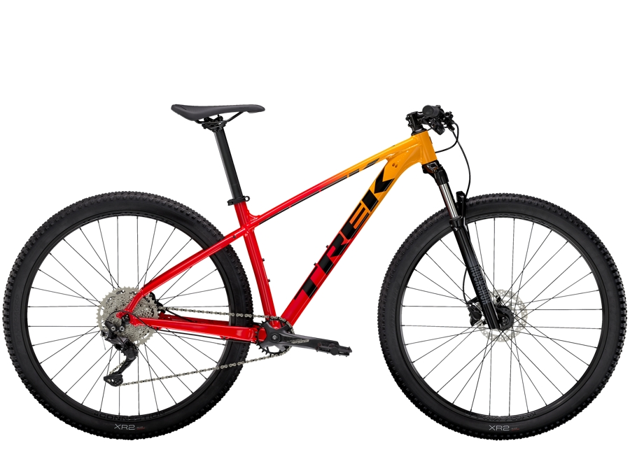 Trek Marlin 7 M (29  wheel) Marigold to Radioactive Red Fade