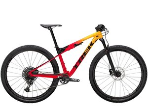 Trek Supercaliber 9.7 XL Marigold to Radioactive Red Fade